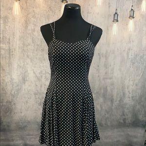 Vintage Black & White Spaghetti Strap Dress